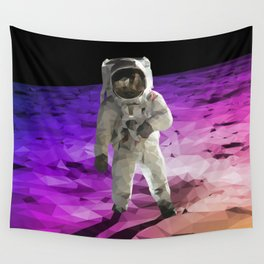 Astronaut Low Poly Wall Tapestry