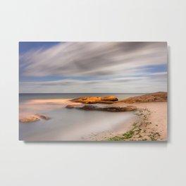 Marine Landscape of Moonlight Metal Print