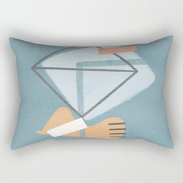 Double square balancing on the hat Rectangular Pillow
