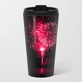 Pink fireworks Travel Mug