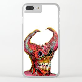 Demon Head Clear iPhone Case