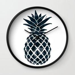 Dark Royal Blue Pineapple Wall Clock