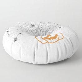 Orange and Black Pumpkin Blast Floor Pillow
