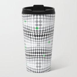 Dottywave - Grey and green wave dots pattern Travel Mug