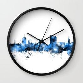 Cardiff Wales Skyline Wall Clock