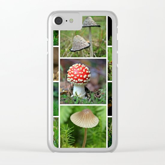 Mushrooms Collage Cafe Or Kitchen Decor Clear Iphone