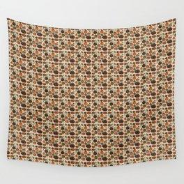 Fall Pumpkin Pattern Wall Tapestry