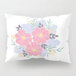 Vintage Pink Flowers Pillow Sham