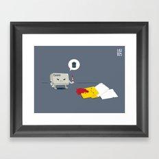 Dead Folder Framed Art Print