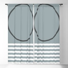 Geometric Form No.10 Blackout Curtain