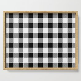 Buffalo Check - black / white Serving Tray