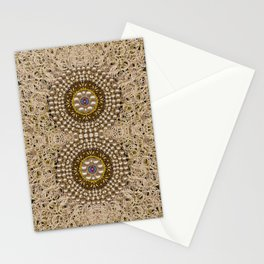 Moon shine over the wood in the night of glimmering pearl stars Stationery Cards