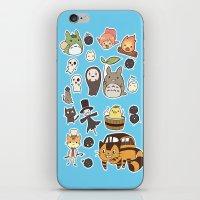 studio ghibli iPhone & iPod Skins featuring studio ghibli  by skymerol
