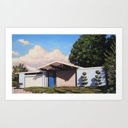 Blue Eichler With Clouds Art Print