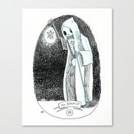 The Hermit Skeleton Tarot Canvas Print