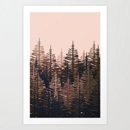Pine Forest - Midnight Neutral Art Print