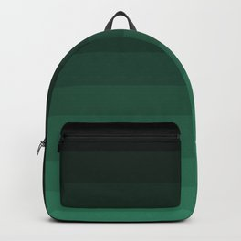 Black and green striped Ombre Backpack