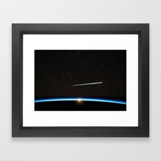 Chelyabinsk bolide moving at a speed of about 20 km/s. Framed Art Print