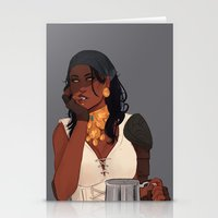 dragon age Stationery Cards featuring Isabela - Dragon Age 2 by maltairs