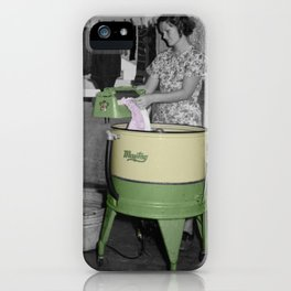 Vintage Washing Machine iPhone Case