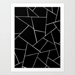 Black White Geometric Glam #2 #geo #decor #art #society6 Art Print
