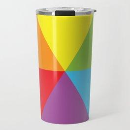 rainbow colour wheel Travel Mug