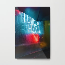 Love of Pizza (Color) Metal Print