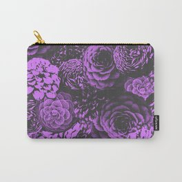 Moody Florals in Purple Carry-All Pouch