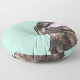 Otter with Bubble Gum Floor Pillow