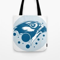 falcon Tote Bags featuring Falcon by cocoyponce