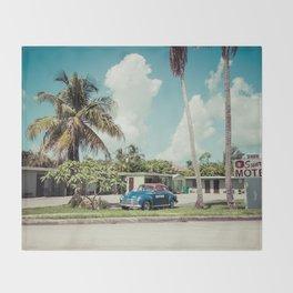 Vintage Motel Throw Blanket