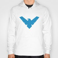 nightwing Hoodies featuring Minimal Superheroes - Nightwing by AlexR56