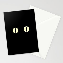 Cat Eyes (Black Cat) Stationery Cards