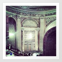 theater Art Prints featuring Theater by Christine Eglantine