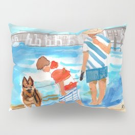A Day at the Beach (finished) Pillow Sham