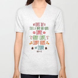 Buddy the Elf! The Four Main Food Groups Unisex V-Neck