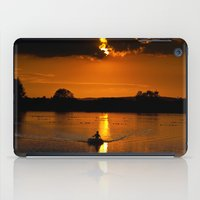 rowing iPad Cases featuring Rowing out of the sun by Traveling Journalist