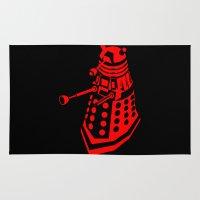 dalek Area & Throw Rugs featuring Dalek by InvaderDig
