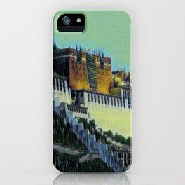 China Potala Palace Artistic Illustration Swamp Style iPhone Case