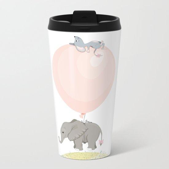 Little flying elephant Metal Travel Mug