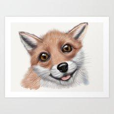 Cute Fox Art Print