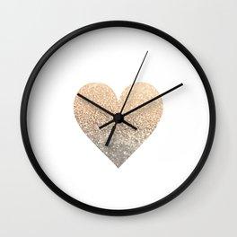 GOLD HEART Wall Clock