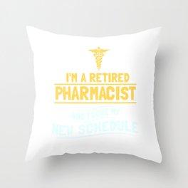 Pharmacy Retired Pharmacist Gift Throw Pillow