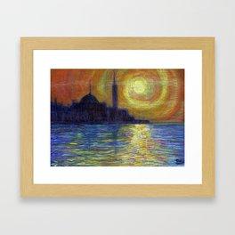 Tramoto di Mediterian.jpg Framed Art Print