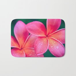 Aloha Hawaii Kalama O Nei Pink Tropical Plumeria Bath Mat