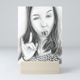 Girl portrait  02 Mini Art Print