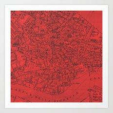 Venezia Rosso Art Print