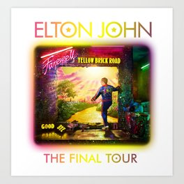 ELTON - FAREWELL YELLOW BRICK ROAD TOUR 2020 AUS,US Art Print