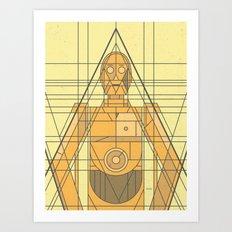 C3PO Deco Droid Art Print