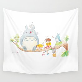 To to ro Fishing Wall Tapestry